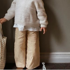 Field Day Linen & Cotton Wide Leg Pants 3T
